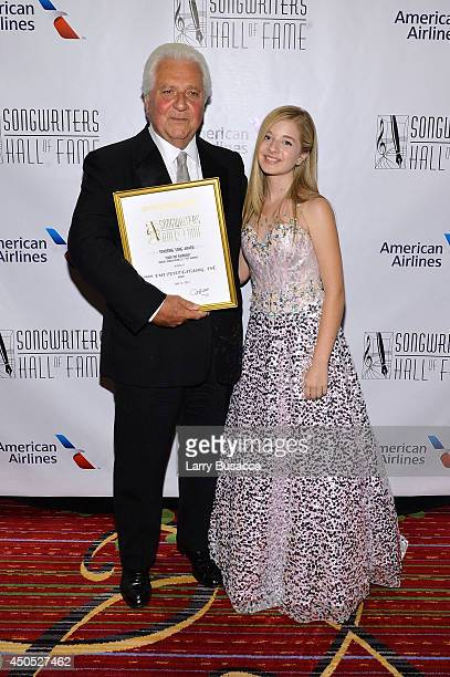 Marty Bandier and Jackie Evancho attend Songwriters Hall of Fame 45th Annual Induction And Awards at Marriott Marquis Theater on June 12 2014 in New...