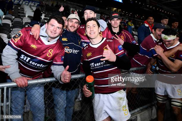 Marty Banks of Southland poses for a photo with fans during the round one Bunnings NPC match between Otago and Southland at Forsyth Barr Stadium, on...