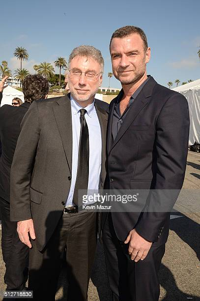 Marty Baron and Liev Schreiber attend 2016 Film Independent Spirit Awards on February 27 2016 in Santa Monica California