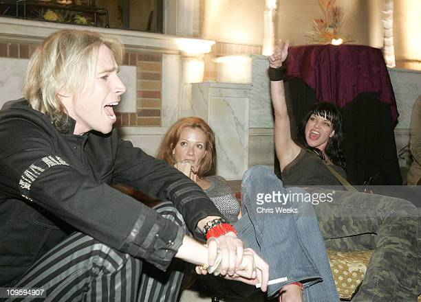 Marty Casey Lauren Holly and Pauley Perrette during Belvedere Vodka Hosts the Second Rock Star INXS Mansion Jam at Private Residence in Los Angeles...
