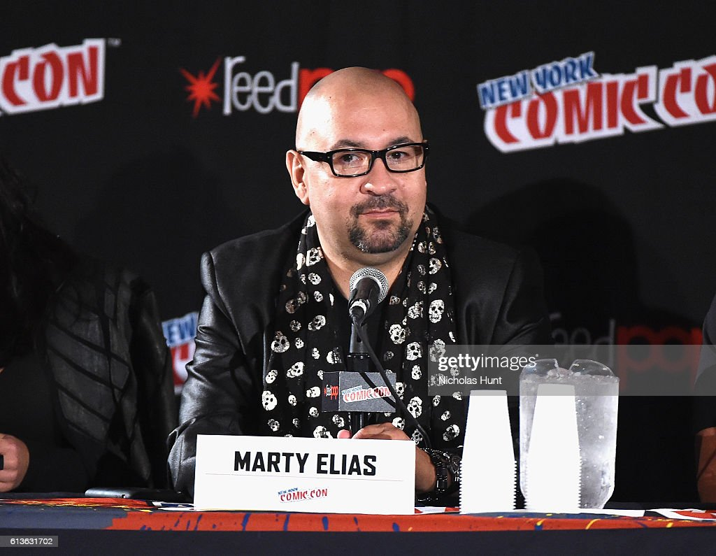 Marty Elias speaks onstage at Lucha Underground Panel during 2016 New York Comic Con on October 9, 2016 in New York City.