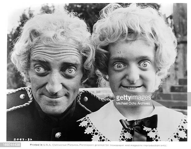 Marty Feldman and a young look alike on set of the film 'The Last Remake Of Beau Geste' 1977