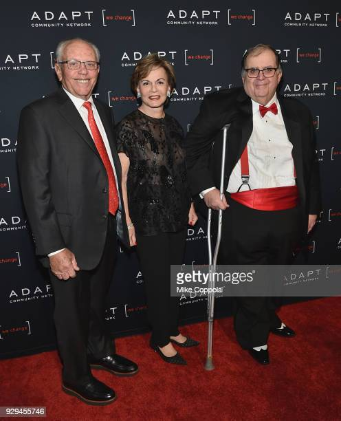 Marty Hausman Helaine Hausman and Ed Matthews attend the Adapt Leadership Awards Gala 2018 at Cipriani 42nd Street on March 8 2018 in New York City
