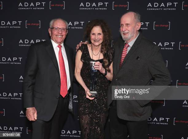 Marty Hausman Helene Miller and Michael Hausman attend the Adapt Leadership Awards Gala 2018 at Cipriani 42nd Street on March 8 2018 in New York City