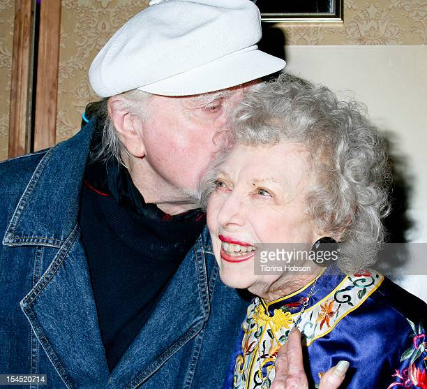 Marty Ingels and Carla Laemmle attend Hollywood actress Carla Laemmle 103rd birthday at the Silent Movie Theater on October 20 2012 in Los Angeles...