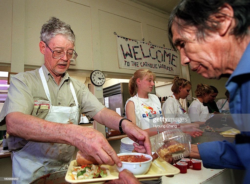 Marty Kane, Tuesday Cordinator Of Catholic Worker Soup Kitchen, Left, And  Other Volunteers