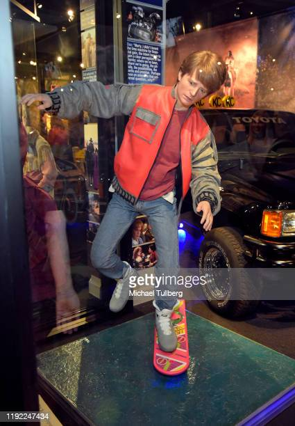 Marty McFly mannequin at Hollywood Museum's Back To The Future Trilogy The Exhibit at The Hollywood Museum on December 05 2019 in Hollywood California