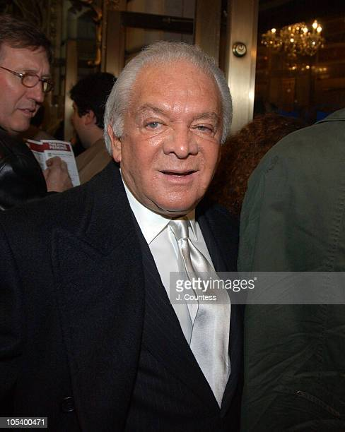 Marty Richards during Opening Night of 'Sly Fox' on Broadway Arrivals at Ethel Barrymore Theatre in New York City New York United States