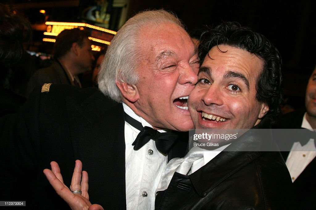 Marty Richards, producer and Mario Cantone during 'Chita Rivera: The Dancer's Life' Broadway Opening Night - Arrivals at The Gerald Schoenfeld Theatre in New York City, New York, United States.