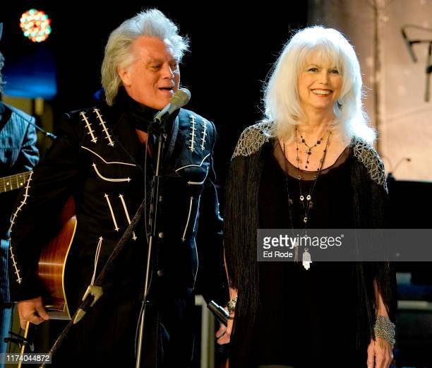 Marty Stuart and Emmylou Harris perform at Marty Stuart's First of Three Shows as Artist-in-Residence at Country Music Hall of Fame and Museum on...