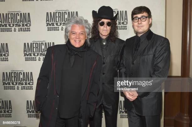 Marty Stuart Kenny Vaughan and Chris Scruggs attend the 2017 Americana Music Association Honors Awards on September 13 2017 in Nashville Tennessee