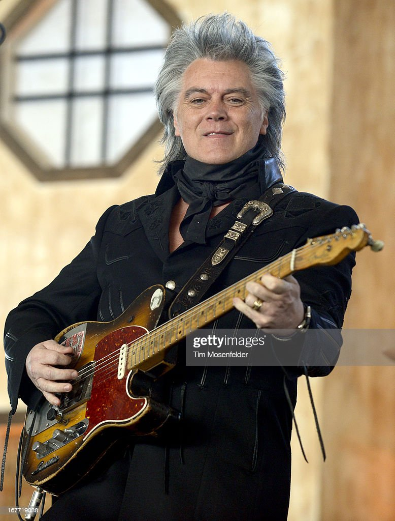 Marty Stuart performs as part of the Stagecoach Music Festival at the Empire Polo Grounds on April 27, 2013 in Indio, California.