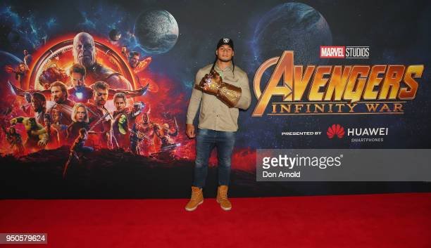 Marty Taupau attends the Avengers: Infinity War Special Event Screening on April 24, 2018 in Sydney, Australia.
