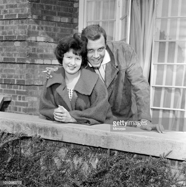 Marty Wilde and his wife Joyce at their flat in Chiswick London 21st April 1960