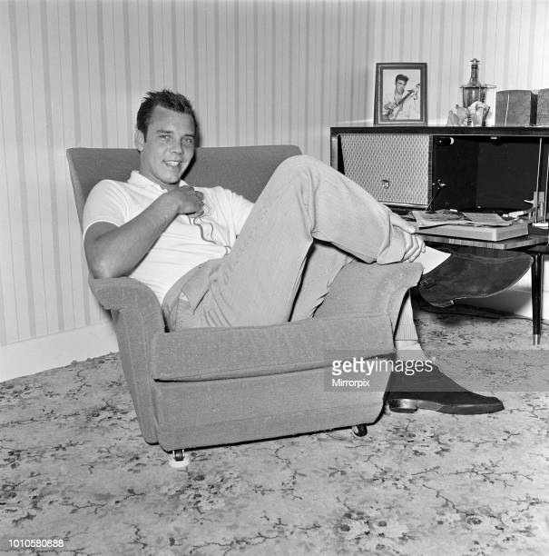 Marty Wilde at home in his flat in Chiswick London 21st April 1960