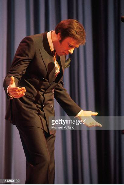Marty Wilde performs on stage at Theatre Royal Drury Lane at the Royal Variety Performance 17th November 1981