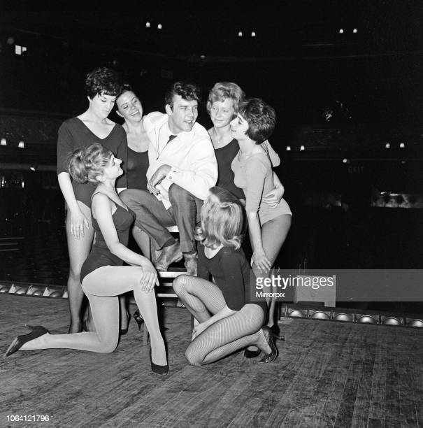 Marty Wilde rehearsing with with the FoxMiller dancing girls during rehearsals at the The Metropolitan Theatre Edgware Road It is the last time the...