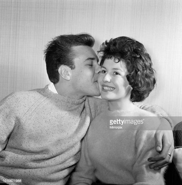 Marty Wilde with his sweetheart Joyce Baker They are to be married tomorrow 1st December 1959