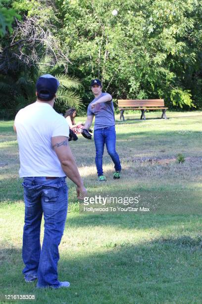 Marty York and Victor DiMattia are seen on May 28 2020 in Los Angeles CA