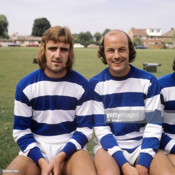 Martyn Busby and Terry Mancini of Queens Park Rangers