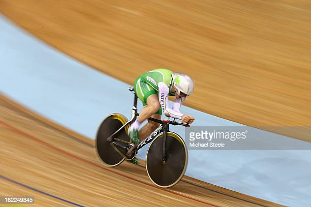 Martyn Irvine of Ireland on his way to qualifying second fastest in the men's individual pursuit during day two of the UCI Track World Championships...