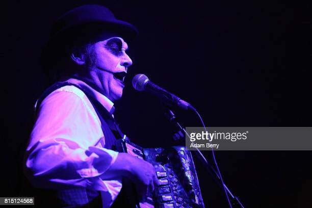 Martyn Jacques of the The Tiger Lillies performs during a concert at Admiralspalast on July 15 2017 in Berlin Germany