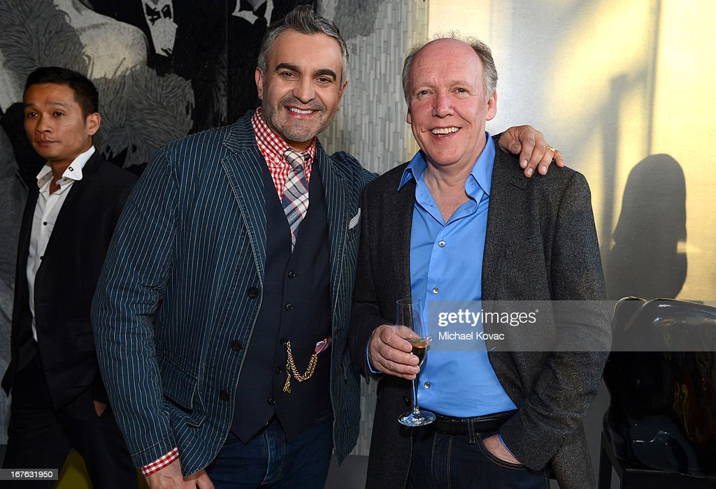 Martyn Lawrence Bullard and Jaguar Design Director Ian Callum attend the BritWeek Christopher Guy event with official vehicle sponsor Jaguar on April 26, 2013 in Los Angeles, California.