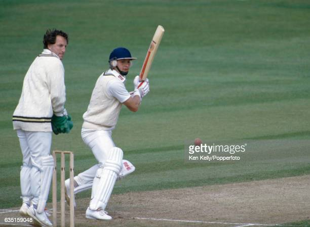 Martyn Moxon batting during his innings of 93 not out in the Benson and Hedges Cup match between Warwickshire and Yorkshire at Edgbaston Birmingham...