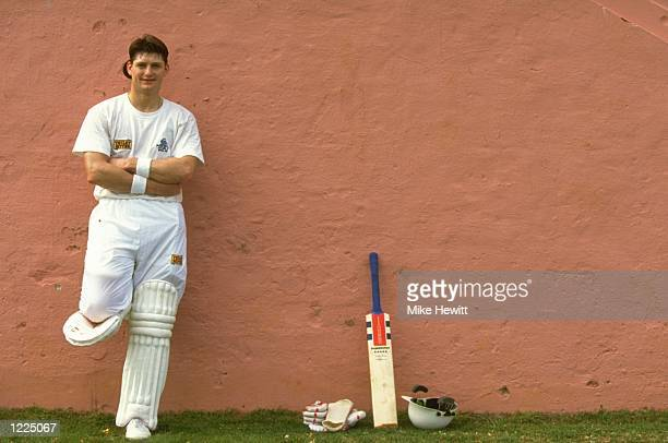 Martyn Moxon of England A leans on a wall during their tour to the West Indies and Bermuda Mandatory Credit Mike Hewitt/Allsport
