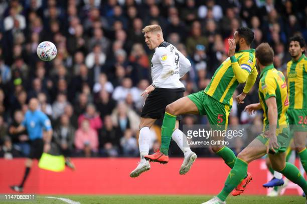 Martyn Waghorn of Derby County scores his team's first goal during the Sky Bet Championship match between Derby County and West Bromwich Albion at...