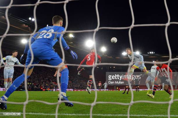 Martyn Waghorn of Derby County scores their second goal during the FA Cup Third Round Replay match between Southampton FC and Derby County at St...