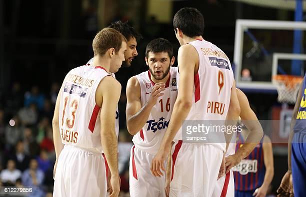 Martynas Gecevicius Georgios Printezis Kostas Papanikolaou Evangelos Mantzaris Giorgi Shermadini Basketball Euroleague FC Barcelona Regal Olympiakos...