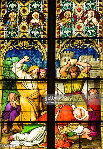 martyrdom of st stephen - martyr stock pictures, royalty-free photos & images