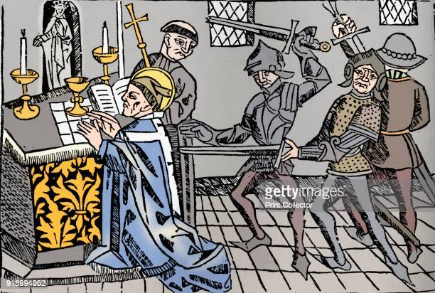 Martyrdom of St Thomas of Canterbury' c1484 Archbishop of Canterbury from 1162 Becket clashed almost incessantly with King Henry II over the question...