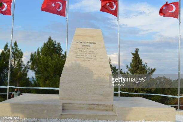 A martyrdom of Turkish soldier Nazif Cakmak is seen at Chunuk Bair on the Gallipoli peninsula in Canakkale Turkey on November 4 2017 ''Turkey is...