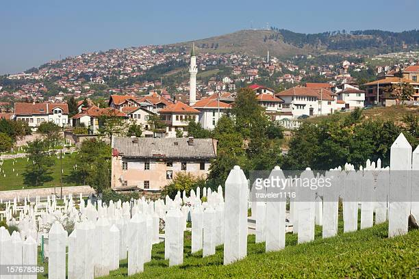 martyr's memorial cemetery kovaci in sarajevo - bosnia and hercegovina stock pictures, royalty-free photos & images