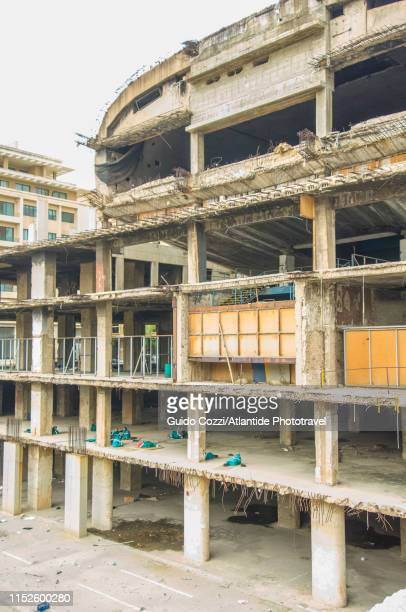 martyrs' square, ruin of an old cinema destroyed by the war - image stock pictures, royalty-free photos & images