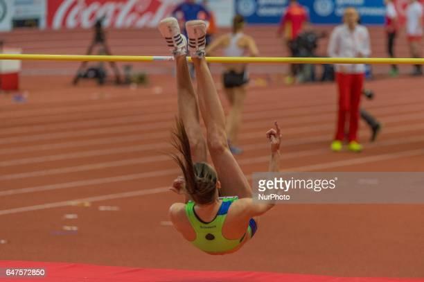 Marua ernjulSlovenia during High Jump for women at European athletics indoor championships in Belgrade on March 3 2017