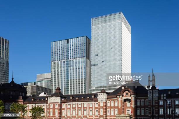 Marunouchi business district and Tokyo train station in Japan