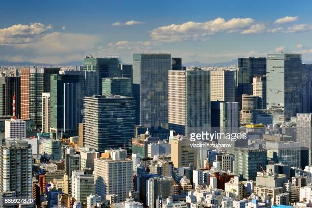 marunouchi  -  wall of skyscrapers - 昼間 ストックフォトと画像