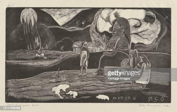 Maruru , 1894/1895. Artist Paul Gauguin.