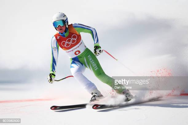 Marusa Ferk of Slovenia competes during the Ladies' Alpine Combined on day thirteen of the PyeongChang 2018 Winter Olympic Games at Yongpyong Alpine...