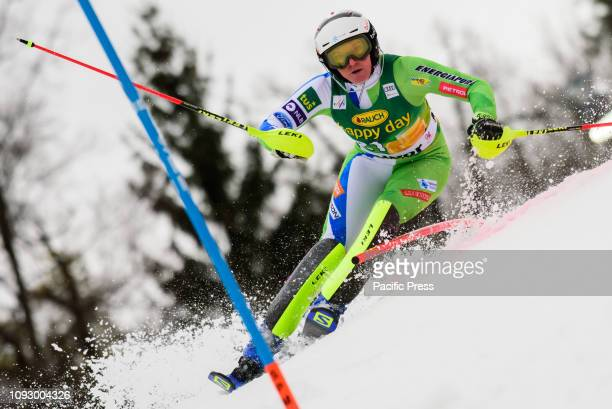 MARIBOR SLOVENIA MARIBOR SLOVENIA Marusa Ferk of Slovenia in action during the Audi FIS Alpine Ski World Cup Women's Slalom Golden Fox in Maribor...
