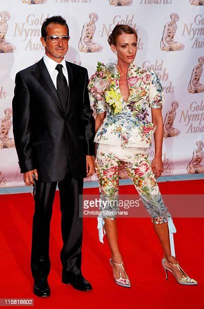 Maruschka Detmers and husband during 44th Monte Carlo Television Festival Closing Ceremony Arrivals at Grimaldi Forum in Monte Carlo Monaco
