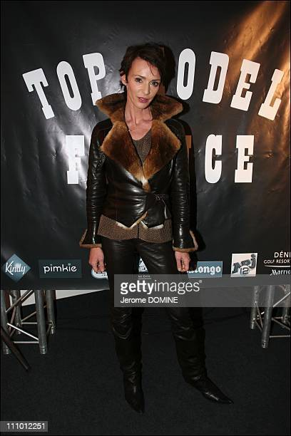 Maruschka Detmers at the election of French Top Model 2007 at the Theatre Pierre Cardin in Paris France on March 26th 2007