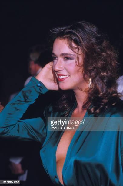 Maruschka Detmers lors de la soirée 'Cannon Films' au festival de Cannes le 18 mai 1986 France
