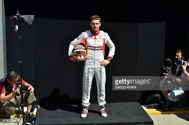 Marussia driver Jules Bianchi of France poses during a photo shoot ahead of the Formula One Australian Grand Prix in Melbourne on March 13 2014 AFP...