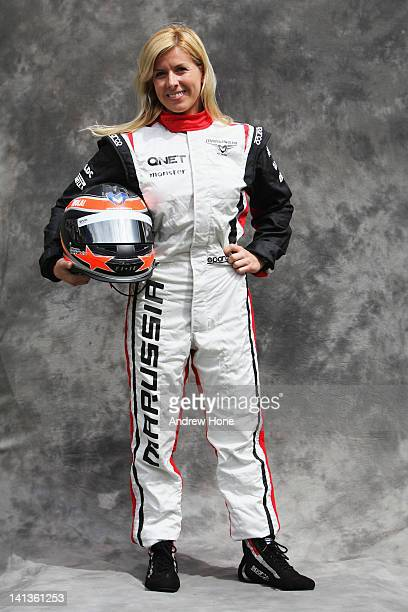 Marussia test driver Maria de Villota of Spain attends the drivers portrait session during previews to the Australian Formula One Grand Prix at the...