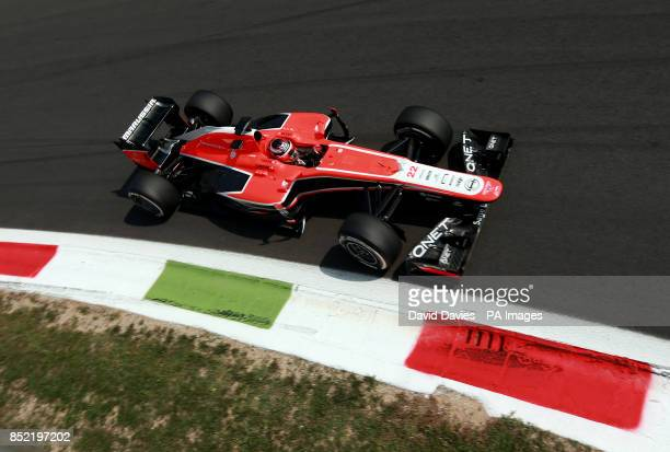 Marussia's Jules Bianchi during qualifying day for the 2013 Italian