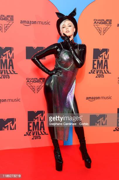 Maruv attends the MTV EMAs 2019 at FIBES Conference and Exhibition Centre on November 03 2019 in Seville Spain